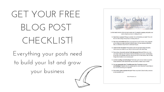 Get Your Free Blog Post Checklist!